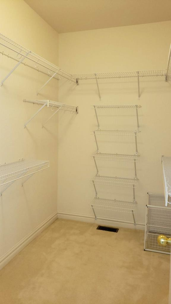Spacious walk-in closet 5' x 11'