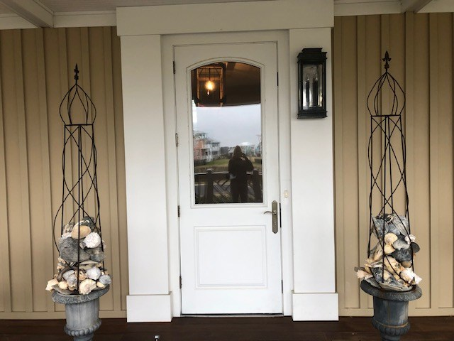 Front Door on 1st floor deck